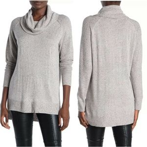 M Magaschoni Gray Cashmere Blend Cowl Neck Sweater